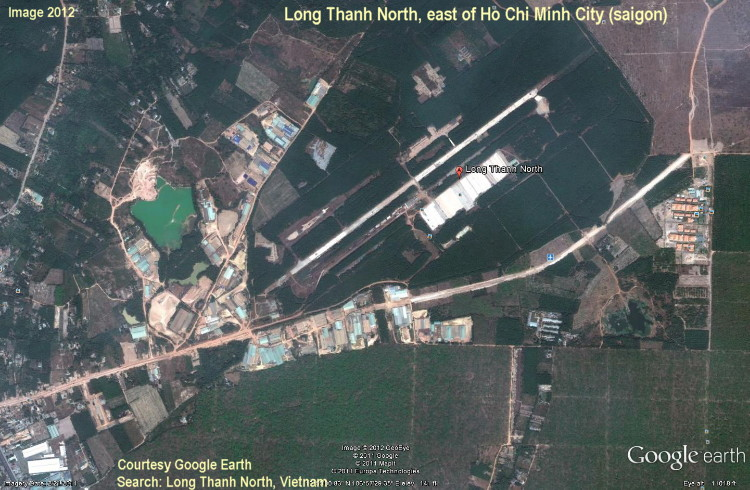 Long Thanh North Airport, east of Ho Chi Ming, Vietnam, from Google Earth, 2012